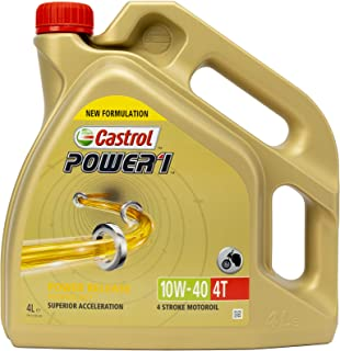 Castrol Power 1 4-takt 10W-40 Motorolie 4 L transparant
