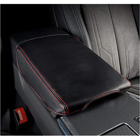 Shaohao Mittelarmlehne Abdeckung Für Audi A6 C8 4k Mittelkonsole Armlehnenbezug Mittelarmlehnenabdeckung Zubehör Rot Linie Küche Haushalt
