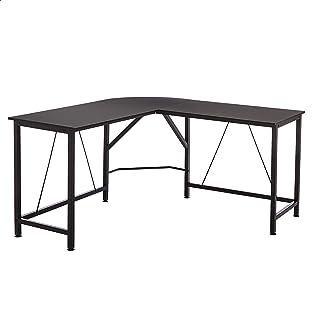 Amazon Basics L-Shape Office Corner Desk, 55-Inch, Black