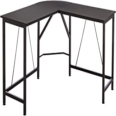 Amazon Basics Bureau d'angle en forme de L, 140 cm - Noir