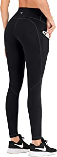 IUGA High Waisted Yoga Pants with Pockets, Workout Leggings for Women Tummy Control, 4 Pockets Spandex Yoga Leggings