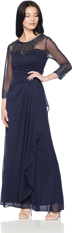 Alex Evenings Womens Aline Sweetheart Neck Dress with Beaded Illusion Neckline Dress