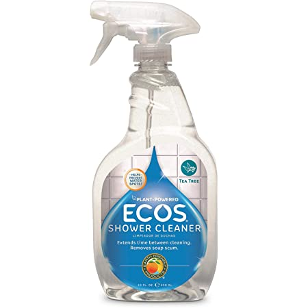 ECOS® Non-Toxic Shower Cleaner with Tea Tree Oil, 22oz Bottle by Earth Friendly Products (Pack of 2)