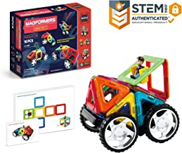 Magformers Vehicle Wow Set (16-pieces) Magnetic Building Blocks, Educational Magnetic Tiles Kit , Magnetic Construction ST...
