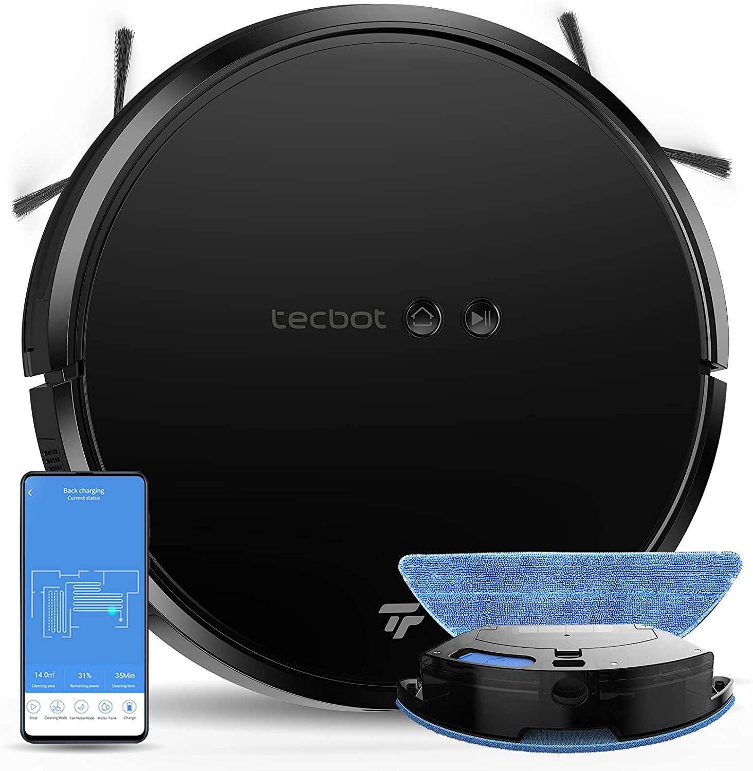 TECBOT S1 Pro Robot Many popular brands Vacuum Cleaner with Mopping Comb Slim in Popular 2 1