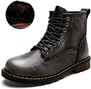 FS65a32zxc High end Boots Outdoor Working Boots Men Shoes Autumn Men Boots Winter Waterproof Ankle Boots,6MUS,FurGray