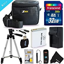 """Ultimate 20 Piece Accessory Kit for Canon Powershot SX540, SX530 HS, SX610 HS, SX710 HS, SX520 HS, SX600 HS, SX700 HS, SX510 HS, SX500 IS, SX280 HS, SX260 HS, SX170 IS, SD1300 IS, SD1200 IS, SD980, SD770, SD1300, D30, D20, D10, IXUS 85 IS, IXUS 95 IS, IXUS 200 IS Digital Cameras Includes 32GB High Speed Memory Card + 1 High Capacity NB-6L / NB6LH Lithium-ion Battery with Quick AC/DC Charger + 60"""" Inch Full Size Tripod + a Water Resistant Padded Case + Universal Card Reader + Flexible Mini Table Tripod + Memory Case Wallet Holder + Screen Protectors + Deluxe Cleaning Kit + Lens Cap Keeper + Ultra Fine HeroFiber Cleaning Cloth"""