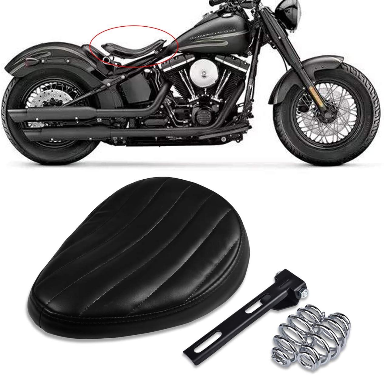 Tuincyn Motorrad Schwarz Solo Sitz Leder Kissen Federn Halterung Auto