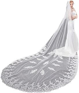 EllieHouse Women's Custom Made Long 2 Tier Wedding Bridal Veil With MetaL Comb E69