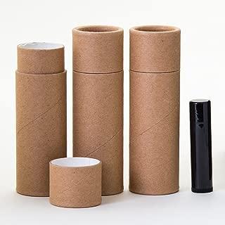 2.5 OZ Kraft Paperboard Lip Balm/Deodorant/Cosmetic/Lotion Tubes x25