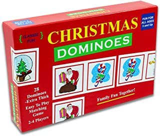 Christmas Dominoes | A Fun Christmas Party Game - The Original and Classic Christmas Dominoes Game with Christmas Themed Pieces for a Fun-Filled Christmas Party