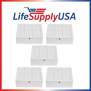 LifeSupplyUSA 5 Pack Aftermarket Replacement HEPA Filter Compatible with IQAir HyperHEPA H12 H13 Health Pro HealthPro Plus Models 102 14 14 00