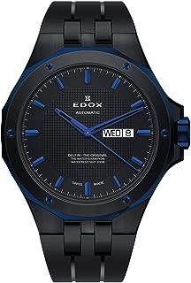 Edox Men's Delfin The Original 43mm Black Rubber Band Steel Case Automatic Watch 88005 357BUNCA NIBU