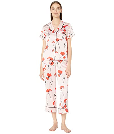 Kate Spade New York Charmuse Fluttering Poppies Cropped PJ Set (Fluttering Poppies) Women