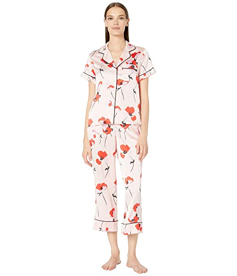 Kate Spade New York Charmuse Fluttering Poppies Cropped PJ Set