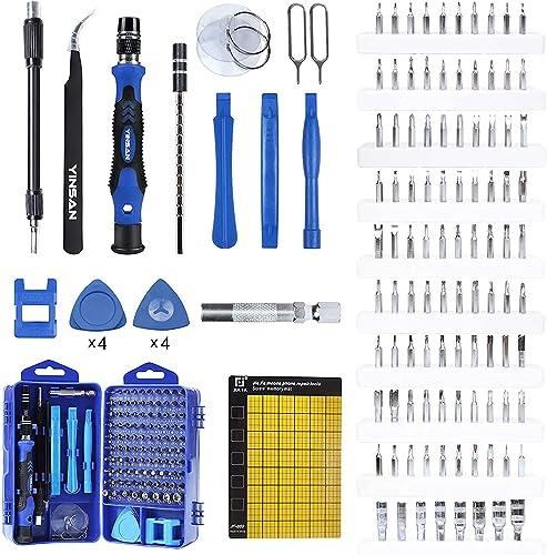 YINSAN 120 en 1 Juego de Destornilladores de Precisión con Magnetizador, Kit de Herramientas de Reparación de Bricola...