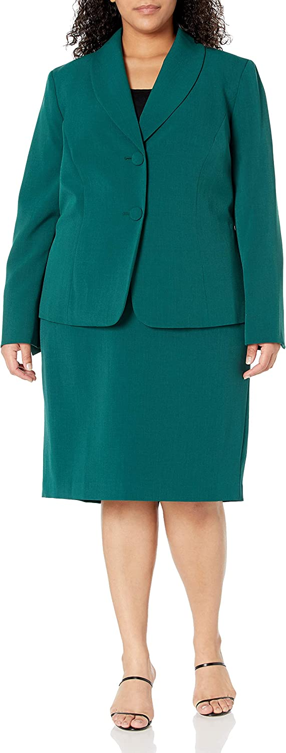 Le Suit Women's 2 Button Collar Notch Stretch Skirt Crepe San Seattle Mall Diego Mall