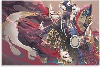 NIUASH Onmyoji Yuyu Night Yinyang Temple Anime Game Posters YQ01 Poster Decorative Painting Canvas Wall Art Living Room Po...