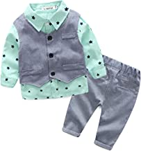 City Mouse Toddler Boys' Formal Dresswear Vest Set with Pant, Shirt, and Bow Tie for Baby Casual Clothing Suit