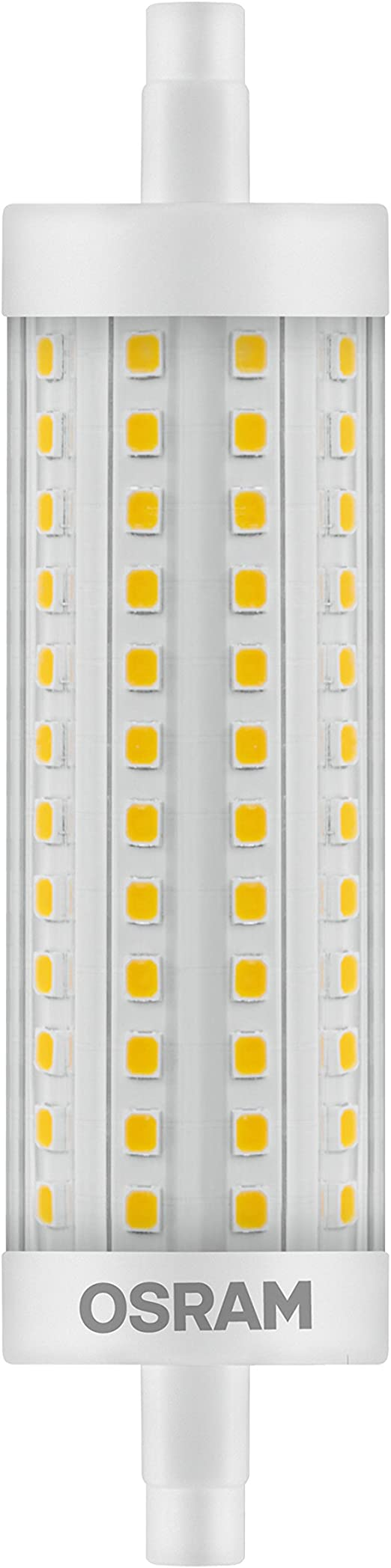 Osram Led Star Special Line Led Beam Angle With R7s Base Not Dimmable Replacement For 100 Watt 118 Mm Lenght Clear Warm White 2700 Kelvin 9 Pack Amazon Co Uk Lighting