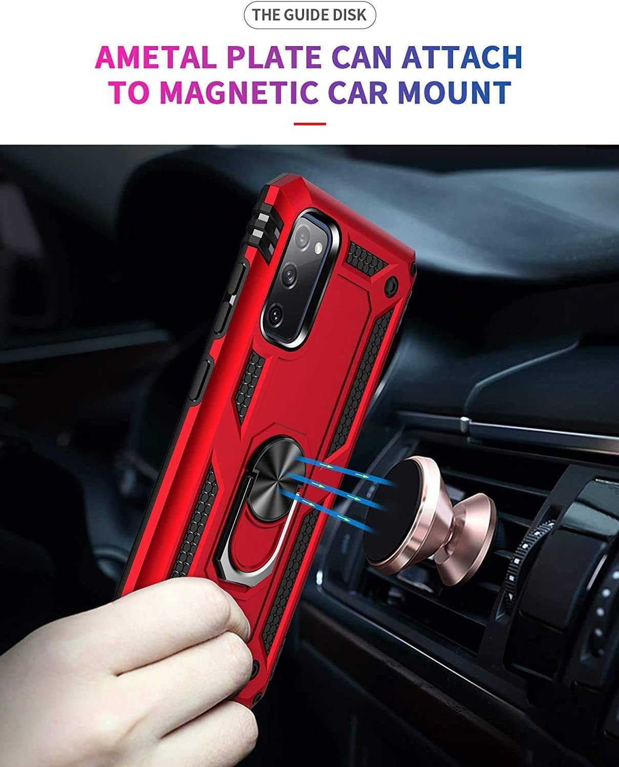 Black CaseNN Compatible with Samsung Galaxy Note 20 Ultra Case with Ring Stand Magnetic Car Mount 360 Degree Grip Holder Kickstand Military Grade Shockproof Bumper Protective Silicone Armor Cover