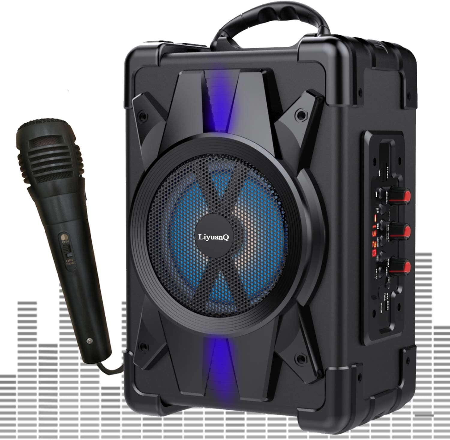 LiyuanQ Portable Ranking TOP14 Selling and selling Wireless Bluetooth Microphone Speakers with Su