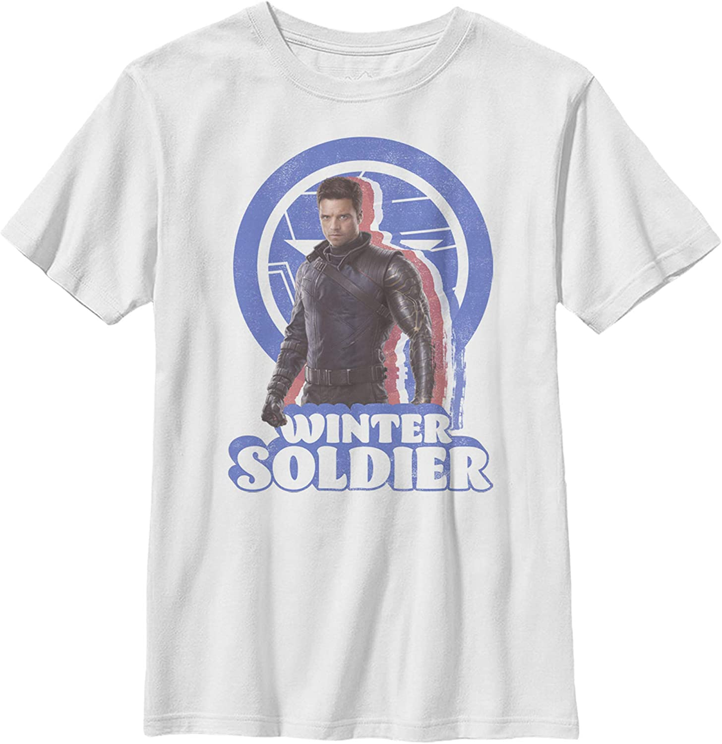 Boy's Marvel The Falcon and The Winter Soldier Retro Bucky T-Shirt