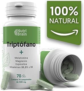 comprar comparacion Natural Triptófano con Melatonina y Espirulina para mejorar el sueño, reducir la ansiedad, aumentar la energía, la concent...