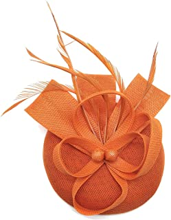 Fascinators Sinamay Hat Womens Feather Pillbox Derby Tea Party Hat