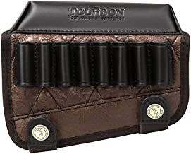 TOURBON Leather Buttstock Cheek Rest with Rifle Shell Holder