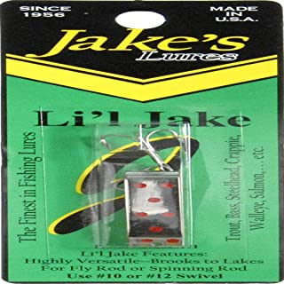 Jake'S Lures Li'L Jake 1/6Oz White Red Fishing Equipment
