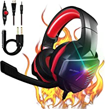 【2021 Upgrade】 7.1 Stereo Surround Sound with Mic PC Headset 50mm Drivers Noise Canceling Over Ear Headphones PS4 Gaming H...