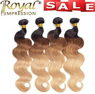 10A Ombre Brazilian Body Wave Human Hair 4 Bundles (T1B/30/27,20
