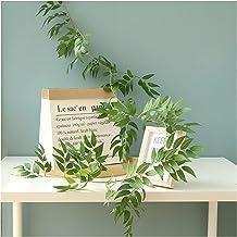 2 stks kunstmatige klimop groen blad wilg garland planten eucalyptus wijnstokken nep bladeren bloemen huis tuin bruiloft d...