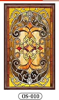 Window Film Static Cling Glass Film Custom Size electrostatic Frosted Stained Glass Window Film foil Door Stickers PVC self-Adhesive Window Stickers 23.6 x 78.7 Inch