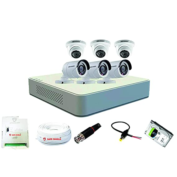 Hikvision 8 Ch ECO DVR with (2MP) 3 Bullet & 3 Dome Camera Full Combo Kit