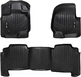 SMARTLINER Floor Mats 2 Row Liner Set Black for 2004-2008 Ford F-150 SuperCrew Cab / 2006-2008 Lincoln Mark LT Crew Cab