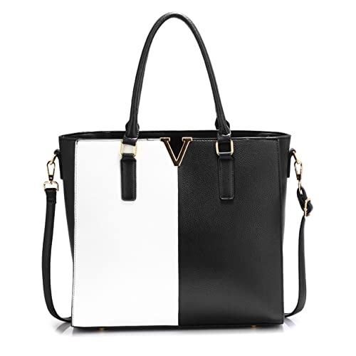 c541723f2 LeahWard® Women's Faux Leather Tote Handbags Large Shoulder Bag For Her  School College Work Sale