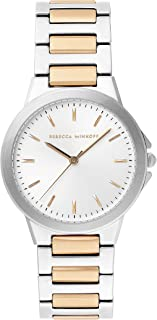 Rebecca Minkoff Women's Cali Quartz Watch with Stainless Steel Strap, Two Tone, 18 (Model: 2200323)