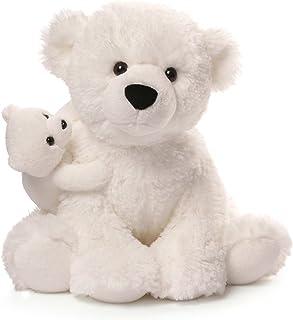 """GUND Polar Bear & Baby Plush, 12"""""""