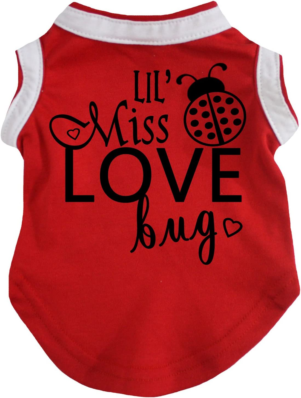 Petitebella Lil Miss Love Bug Red Puppy Dog Shirt X-Small