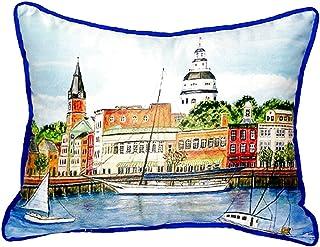 "Betsy Drake SN728 Annapolis City Dock Pillow, 11"" x14"""