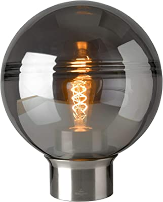 Villeroy&Boch Tokio Lampe de Table Métal 25W Satin/Smoke H 36cm Ø 30cm