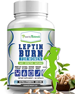 PbyN - Leptin Burn for Women - Fat Regulator, Natural Appetite Suppressant, Metabolism Booster for Weight Control Diet Pills- Leptin Supplements - 60 Capsules - Fat Burner Weight Loss Pills for Women