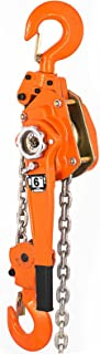 Mophorn 6 Ton Lever Block Chain Hoist 6M 20ft Chain Hoist Alloy Steel G80 Chain Ratchet Lever Hoist with Hook (6 Ton 20 Ft)