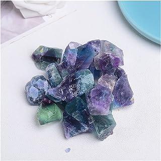 天然石 天然石英ミネラルサンプルアメジストローズクォーツ原クリスタルフォームラフストーンレイキヒーリングホームデコーティ (Farbe : Colored fluorite, Größe : 100g)