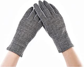 ANCHE Women Winter Warm Gloves Touch Screen Phone Windproof Outdoor and Indoor Fashionable Cotton Thick Gloves