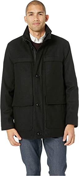 Wool Melton Four-Pocket Coat