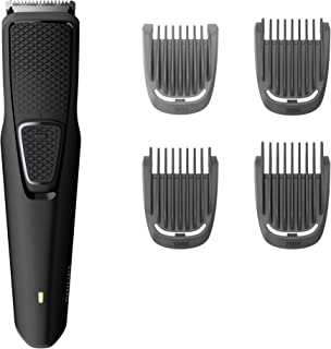 Philips BT1214/15 Beard Trimmer Series 1000 Stainless steel blades, USB charging, 4 stubble and beard combs