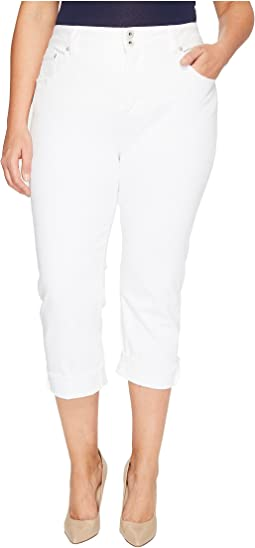 Plus Size Emma Crop Jeans in Clean White